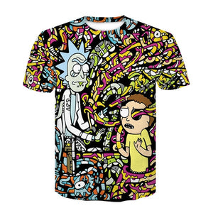 T-shirt Rick et Morty cables couleur