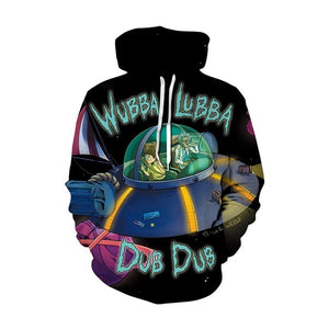 Sweat capuche Rick et Morty Wubba Lubba Dub Dub
