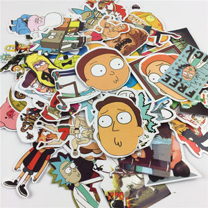 Autocollants stickers Rick et Morty