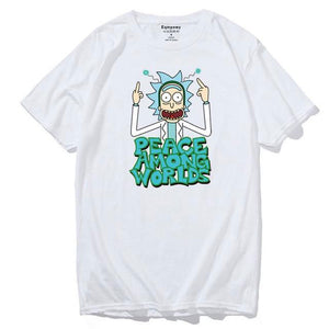T-shirt Rick Peace Among Worlds blanc
