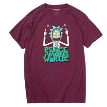 Charger l'image dans la galerie, T-shirt Rick Peace Among Worlds bordeaux
