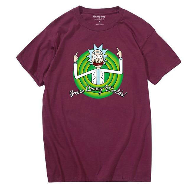 T-shirt Rick Peace Among Worlds Folks bordeaux