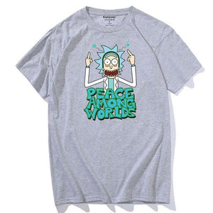 T-shirt Rick Peace Among Worlds gris clair