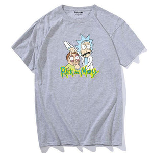 T-shirt Rick Morty gros yeux gris clair