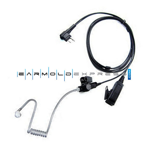 Two-Wire Surveillance Earpiece Mic for Motorola CP200 CP185 BPR40 CLS DTR Radio