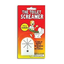 Motion activated Toilet Screamer for the best bathroom prank ever!