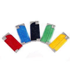 Fake Shock Lighters that give an electric shock when pressed down, with reversable flame
