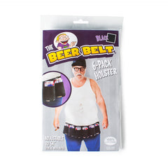 Novelty black beer belt for keeping your beers safe!