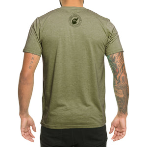 golden door coffee veterans t shirt back