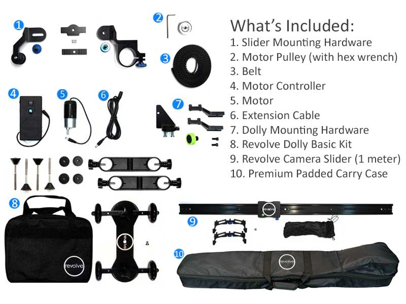 motorized dolly and slider bundle whats included
