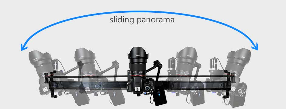 motorized panoramic camera slider