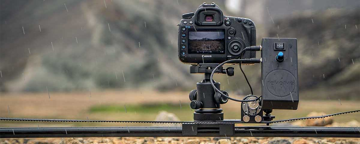 revolve motorized time lapse slider in the rain