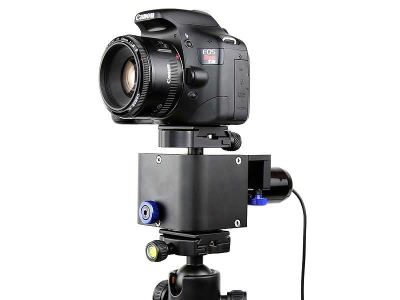 Ram motorized pan tilt head revolve camera for Motorized video camera mount