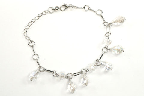 White Color Crystal Fashion Jewelry Charm Bracelet
