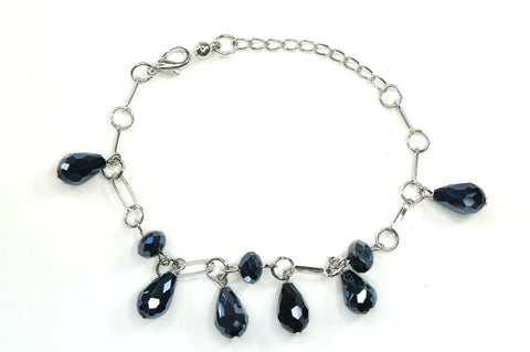 Black Color Crystal Fashion Jewelry Charm Bracelet