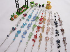 Wholesale Lot of 10 Color Crystal Fashion Jewelry Charm Bracelets (Style C)