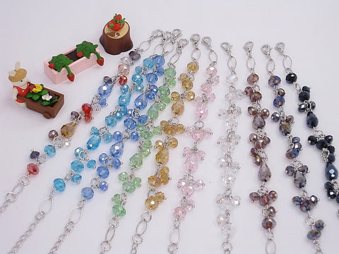 Wholesale Lot of 10 Color Crystal Fashion Jewelry Charm Bracelets (Style F)