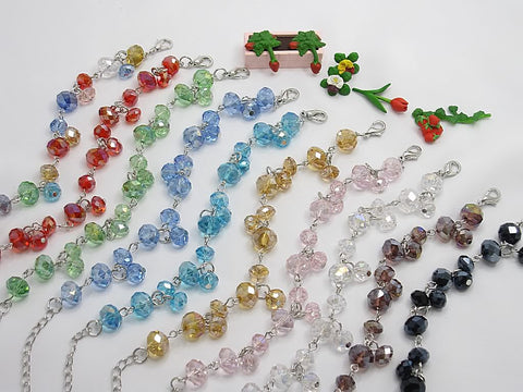 Wholesale Lot of 10 Color Crystal Fashion Jewelry Charm Bracelets (Style G)