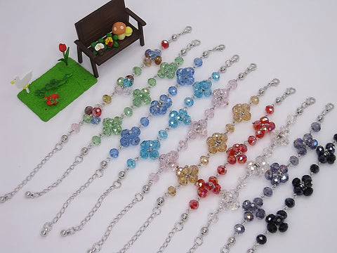 Wholesale Lot of 10 Color Crystal Fashion Jewelry Charm Bracelets (Style H)