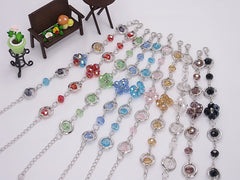 Wholesale Lot of 10 Color Crystal Fashion Jewelry Charm Bracelets (Style I)