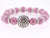 Shamballa Color Crystal Disco Ball Pave Bracelet w Spacers n Antiqued Color Bead
