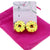 Big Doughnuts Donut with Yellow Cream Clip-on Stud Earrings for Kids Teenage Girls Daughter Party Gift