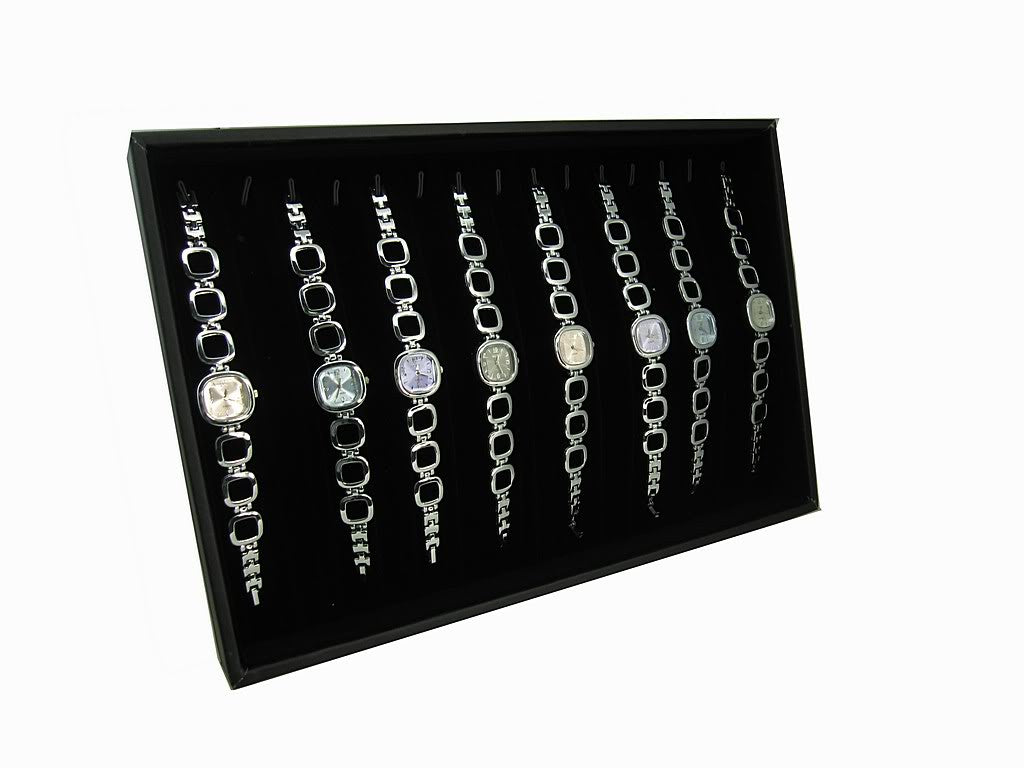 black velvet jewelry display case with easel stand for bracelet necklace