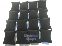 Black Velvet Pillow for Jewelry Display for Bracelets, Necklaces, Bangles, Watches, Pack of 16