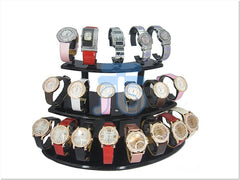 Black Acrylic Display Stand for Jewelry Bangle, Watches. Capacity 19, 3 Layer