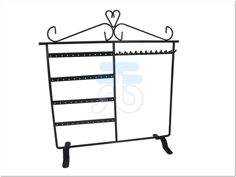 Black Metal Jewelry Display Stand for Earrings, Necklace, Bracelet Pendant etc