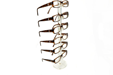 Clear Acrylic 6 Tier Eyeglass Sunglasses Glasses Display Stamd