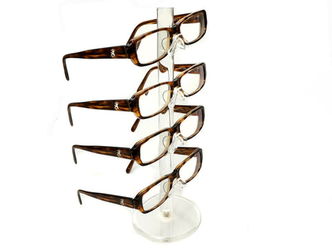 Clear Acrylic 4 Tier Eyeglass Sunglasses Glasses Display Stamd