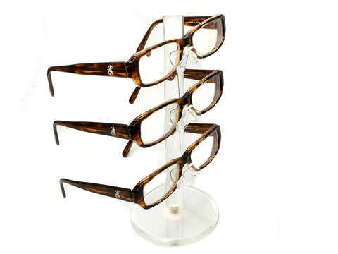 Clear Acrylic 3 Tier Eyeglass Sunglasses Glasses Display Stamd