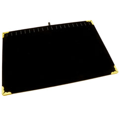 Black Velvet Bracelet / Necklace Jewelry Display Board with 20 Hooks and Golden Decoration Corner