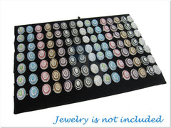 Black Velvet Jewelry Display Ring Insert Pad, 7 Continous Slots