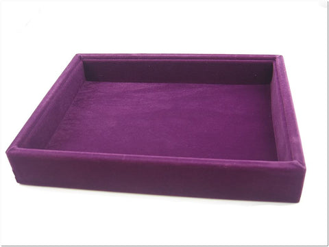 Purple Velvet Liner Protable Jewelry Utility Display Case Tray