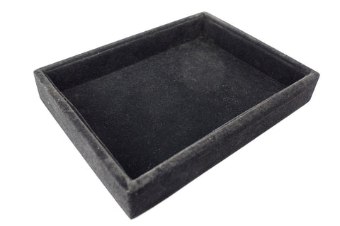Black Velvet Multi-Function Purpose Jewerly Utility Display Case Tray 20x15x3cm