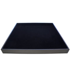 Large Black Display Case for Jewelry Presentation, 35x35x4.5cm