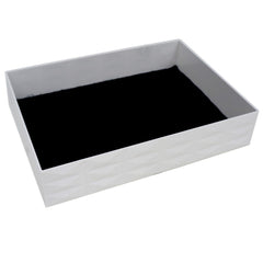 "Stackable Display Tray for Jewelry Organizer, 7.5""x5.6""x1.6"", White"