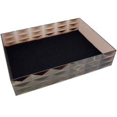 "Stackable Display Tray for Jewelry Organizer, 7.5""x5.6""x1.6"", Transparent Brown"