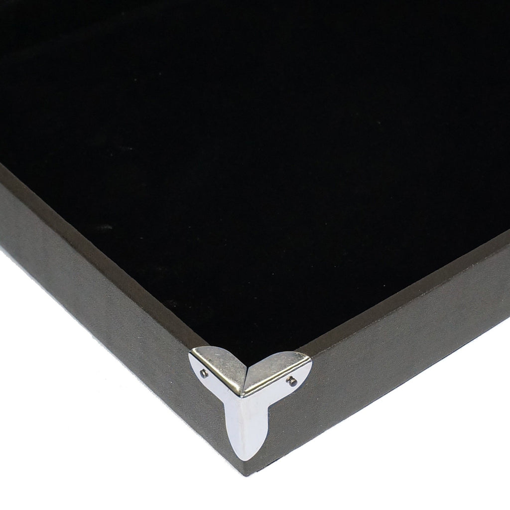 Decorative Display Cases Black Jewelry Pendant Charm Display Case With Silver Decorative