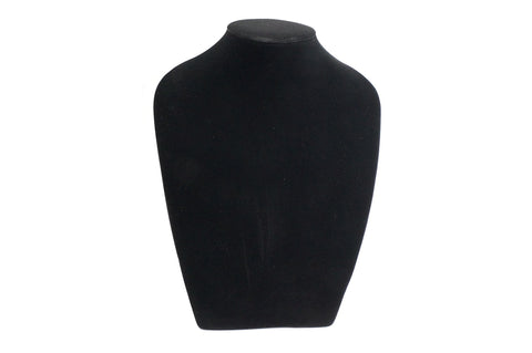 10 inch Height Big Black Velvet Necklace Jewelry Bust Display Stand x 1