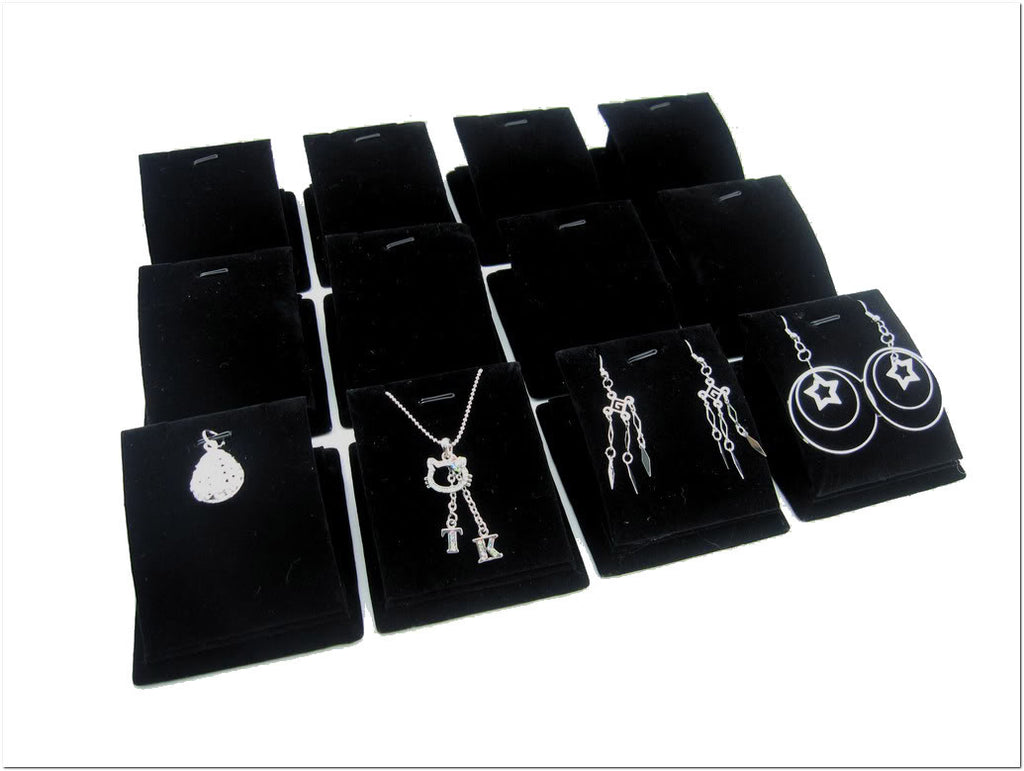 Black Velvet Earring Display Stand Black Velvet Jewelry Display Stand for Pendants Charms Earrings 25