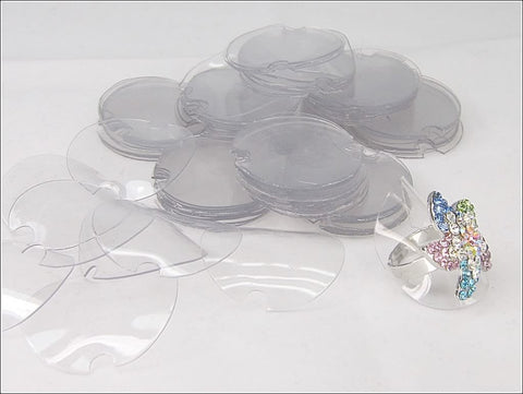 Clear Folding Acrylic Ring Disk Jewelry Display, Pack of 95 pieces