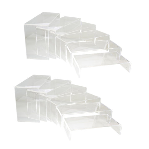 Clear Acrylic 6 Layer Display Stand Riser, Pack of 2 sets