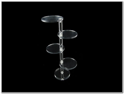 Clear Acrylic 4 Tier Round Display Stand Riser