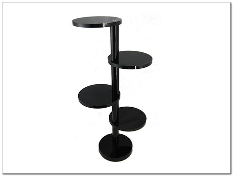 Black Acrylic 4 Tier Round Display Stand Riser