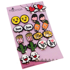 Colorful Cartoon Graffiti Design  Clip-on Earrings for Teen Girls and Womens