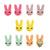 Candy Color Cartoon Rabbit Clip-On Earrings for Kids Children Teen Girls Birthday Party Gift, Pack of 5 Pairs