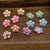 Cute Pastel Color Flower Clip On Earrings Gift Set for Kids Teenage Teen Girls, Pack of 6 Pairs